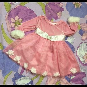 Like New Bonnie Baby  toddler pink dress